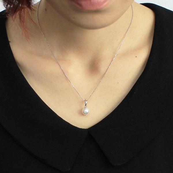 アコヤ本真珠 8.5-9.0mm珠 ネックレス&ピアス&ペンダント 3点セット〔代引不可〕