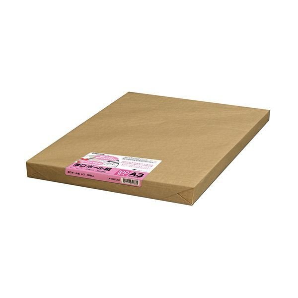 長門屋商店 薄口ボール紙 A3ナ-SB133 1パック(100枚)