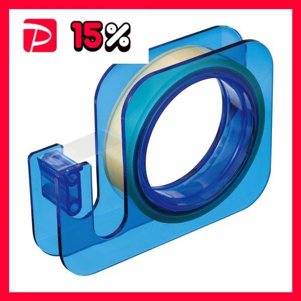 (まとめ) ニチバン セロテープ 大巻ハンドカッター 18mm×20m ブルー TC-18E4 1個 〔×10セット〕