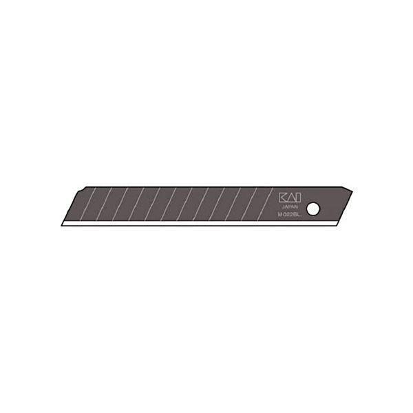 (まとめ) 貝印カミソリ 黒替刃中薄 BM-501ケース(50枚) 〔×5セット〕