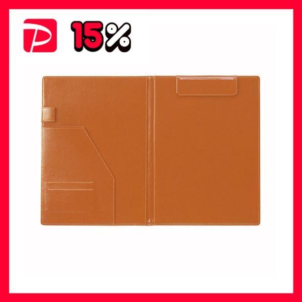 (まとめ) セキセイ ベルポスト クリップボード 二つ折りタイプ ブラックオレンジ〔×5セット〕