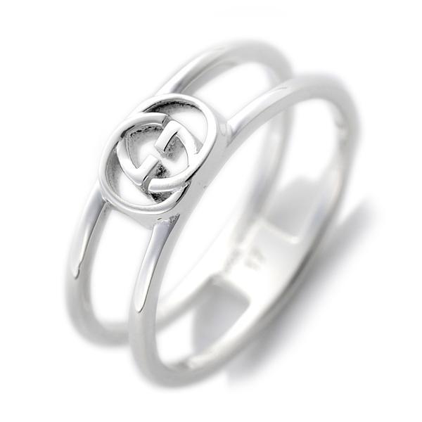 グッチ GUCCI インターロッキングG レディース メンズ リング 指輪 17号 298036 J8400 8106 17 シルバー