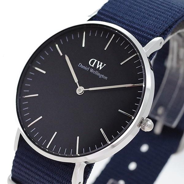ダニエルウェリントン腕時計CLASSICBAYSWATER36シルバーDW00100282ブラックネイビー