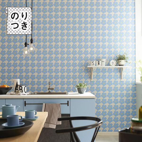 壁紙 のり付き のり付き壁紙 トキワ パインブル TOKIWA PINEBULL 花柄 piirre collective ピーレ・コレクティブ (壁紙以外の商品と同梱不可・数量1で1m)