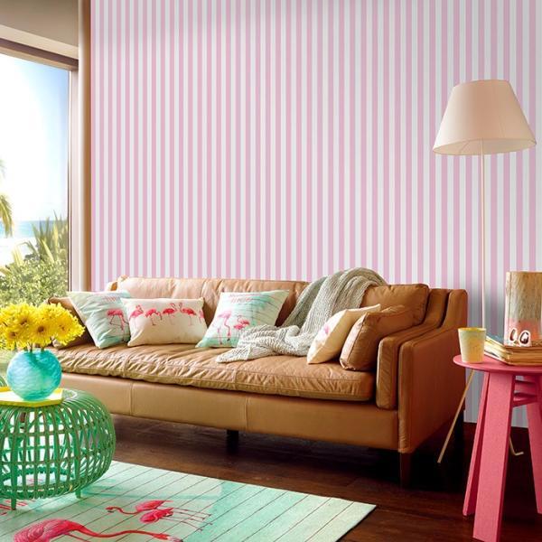 壁紙 はがせる パステルストライプ ピンク ブルー グレー 貼ってはがせる壁紙 フリース壁紙 北欧 賃貸 DIY おしゃれ 初心者 wallpaper|rewall|02