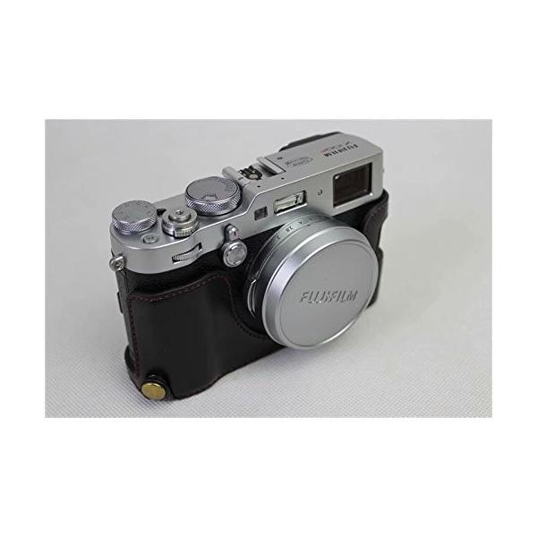 Fujifilm Fuji 富士 PEN X100F カメラ バッグ カメラ ケース 、Koowl手作りトップクラスのPUレザーカメラハーフ|rexisss