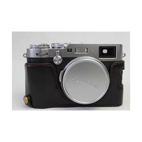 Fujifilm Fuji 富士 PEN X100F カメラ バッグ カメラ ケース 、Koowl手作りトップクラスのPUレザーカメラハーフ|rexisss|04