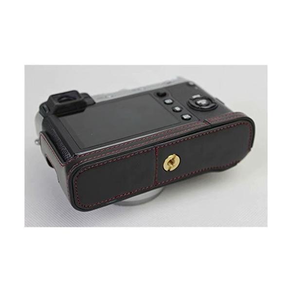 Fujifilm Fuji 富士 PEN X100F カメラ バッグ カメラ ケース 、Koowl手作りトップクラスのPUレザーカメラハーフ|rexisss|07