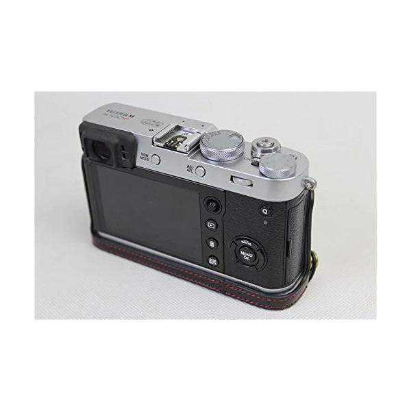 Fujifilm Fuji 富士 PEN X100F カメラ バッグ カメラ ケース 、Koowl手作りトップクラスのPUレザーカメラハーフ|rexisss|10