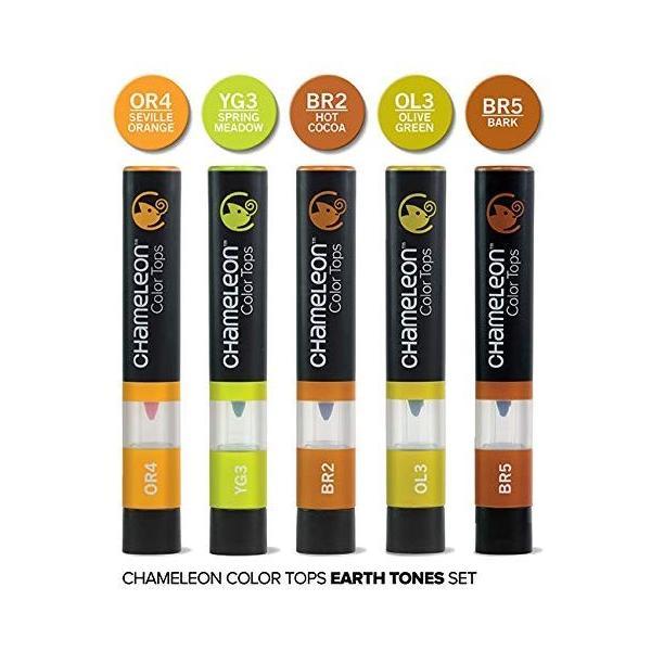 カメレオンペン カラートップ 色のブレンド 5本 EARTH TONES SET(正規品) rexisss 13