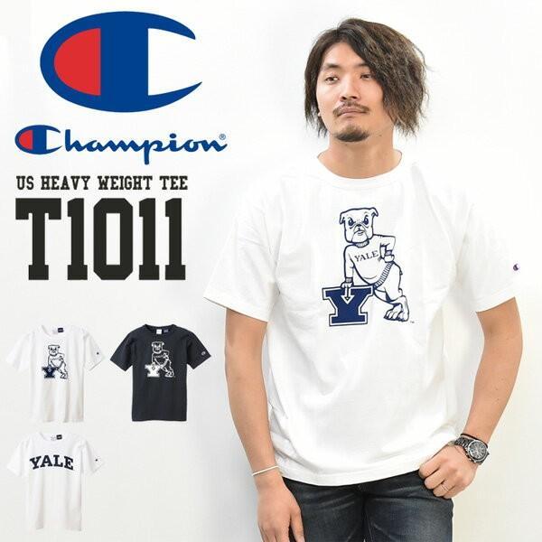 Champion チャンピオン MADE IN USA T1011 カレッジプリント 半袖 Tシャツ YALE クルーネック 半T 半袖Tシャツ C5-R303