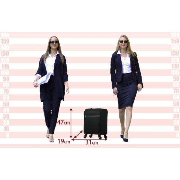 スーツケース 機内持ち込み  キャリーケース 4輪 SS ソフトキャリーバッグ 超軽量 キャスター トランクケース 旅行用かばん ビジネス 出張|rexstar|06