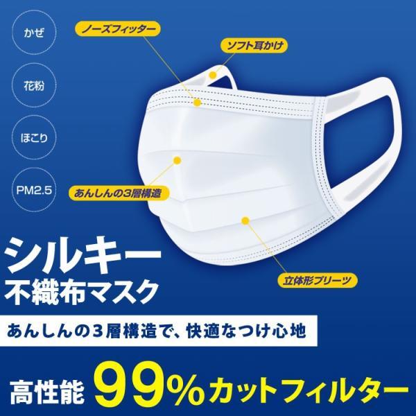 在庫有り 平日15時迄の注文分は即日発送 マスク 50枚入 耳が痛くなりにくい 使い捨て レギュラーサイズ 不織布 3層構造 花粉症 PM2.5 Unifree 中国製|rexstar|02