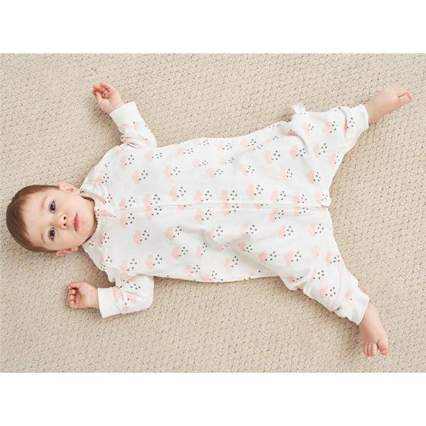 新生児 スリーパー 赤ちゃん おくるみ  ガーゼ ジッパー型 柔らかい 綿毛布 寝具 ベビー パジャマ 出産祝い 退院 お宮参り 冷房対策 あったか60 70 80 90 95 rezayastore 04