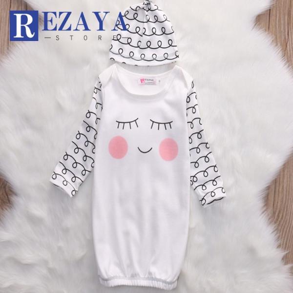 新生児 スリーパー 赤ちゃん おくるみ コットン オールシーズン 綿毛布 寝具 ベビー パジャマ 出産祝い 退院 お宮参り 冷房対策 あったか60 70 80 90 95|rezayastore
