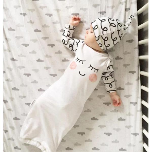 新生児 スリーパー 赤ちゃん おくるみ コットン オールシーズン 綿毛布 寝具 ベビー パジャマ 出産祝い 退院 お宮参り 冷房対策 あったか60 70 80 90 95|rezayastore|03