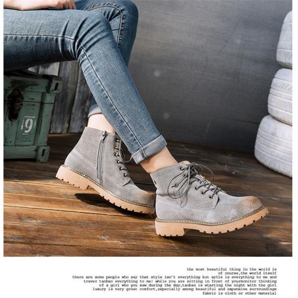 レディース ショートブーツ ブーツ ワークブーツ 靴 レディースブーツ  ミリタリーブーツ マウンテンブーツ    ローヒール  ハイカット  グラデーション