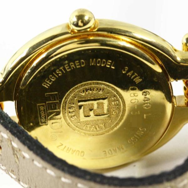 フェンディ コンパーチブル・種類 着せ替えベルト・クォーツウォッチ 腕時計-24.9g/640L/ゴールド×ブラック/FENDI/RF1/h190314/279747