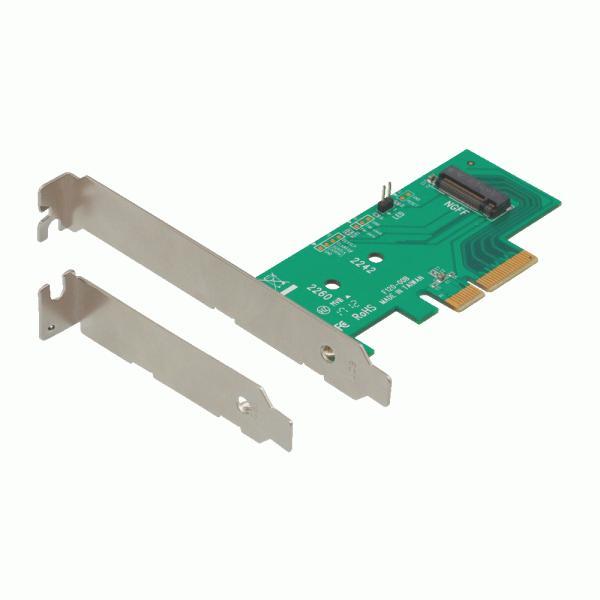 【未使用アウトレット】ロープロファイル対応 M.2 SSD変換 PCI-Expressカード OWL-PCEXM2-01