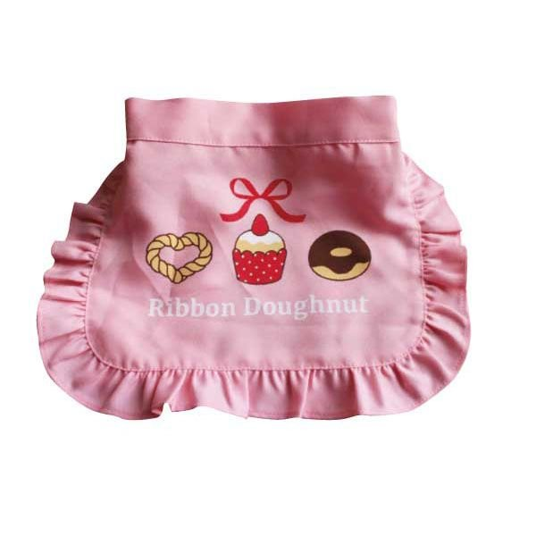 ままごとキッズ腰巻きエプロン ドーナツ(ピンク) ままごとキッチン