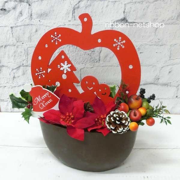 【送料無料】【造花アレンジ】シルクフラワークリスマスアレンジメント・ウッドフレーム(スイート)FL-CH-493
