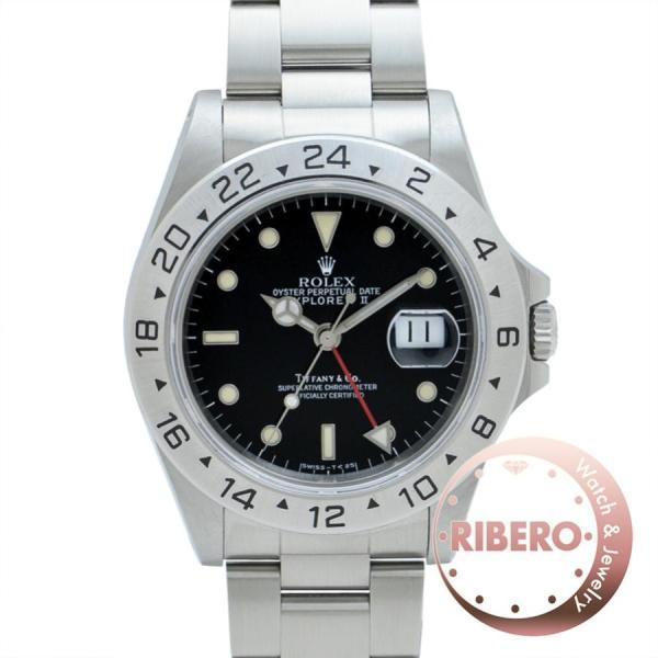 quality design 2fd10 97e97 ROLEX ロレックス エクスプローラーII Ref.16570 N番 ティファニー(TIFFANY)Wネーム オールトリチウム