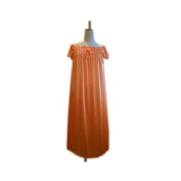 大きいサイズ/フリーサイズ お姫様気分なサテン素材パフ袖オレンジネグリジェ|ribon|06