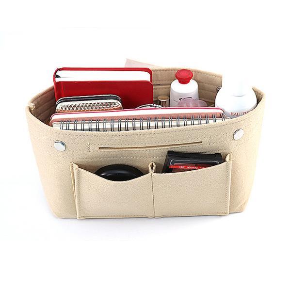 バッグインバッグ フェルト 大きい 大きめ ポケット 収納 大容量 おしゃれ インナーバッグ|ribution|11