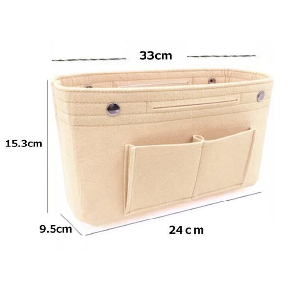 バッグインバッグ フェルト 大きい 大きめ ポケット 収納 大容量 おしゃれ インナーバッグ|ribution|08