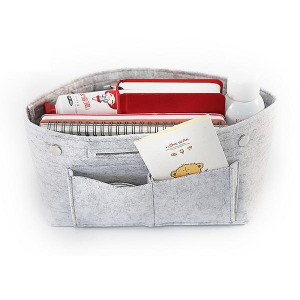 バッグインバッグ フェルト 大きい 大きめ ポケット 収納 大容量 おしゃれ インナーバッグ|ribution|10