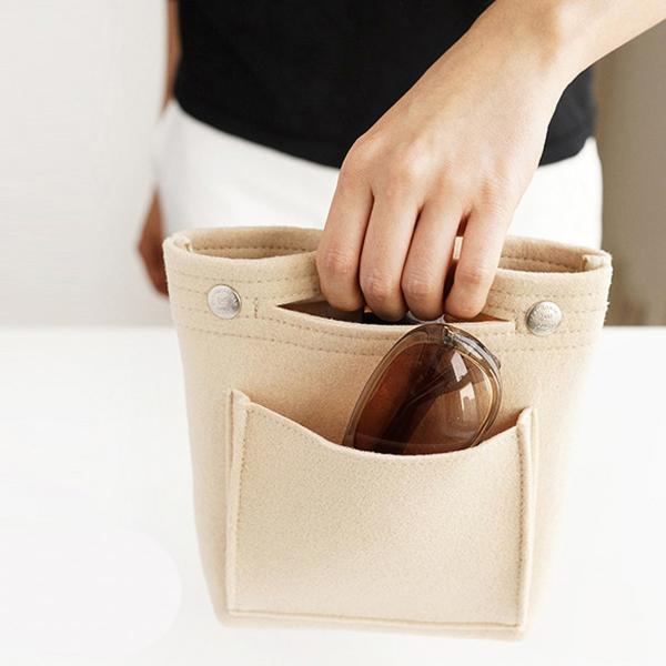バッグインバッグ フェルト 小さめ ポケット インナーバッグ 収納 おしゃれ|ribution|11