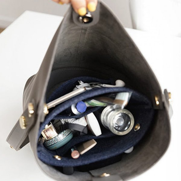 バッグインバッグ フェルト 小さめ ポケット インナーバッグ 収納 おしゃれ|ribution|10