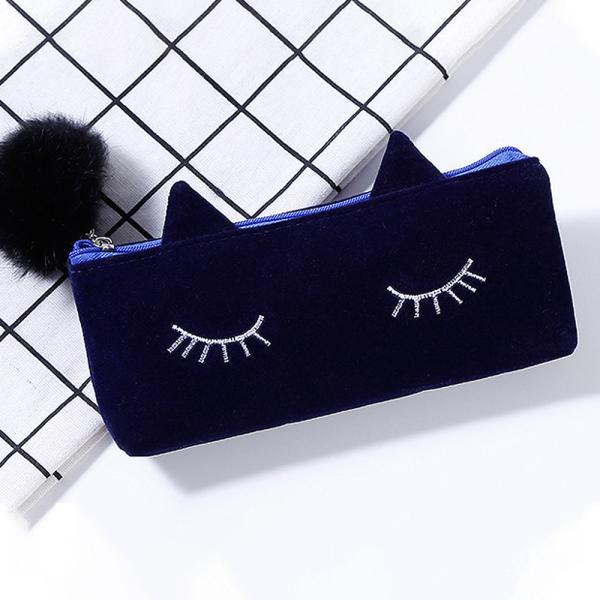 ペンケース 筆箱 ポーチ かわいい 猫 ベロア調 レディース|ribution|10