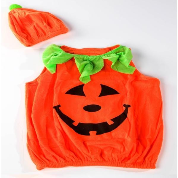 かぼちゃ パンプキン キッズ コスプレ ベビー コスチューム 男女共用 ハロウィン 送料無料|ribution|02