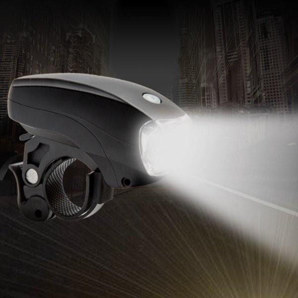 自転車ライト LED ヘッドライト 電池式 自転車用 ライト 5LED 3段階 点灯 明るい 簡単取付 送料無料 ribution 03