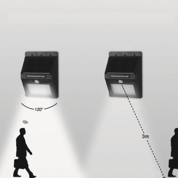 センサーライト 屋外 ソーラーライト 20LED 人感 自動点灯 防水 送料無料|ribution|04