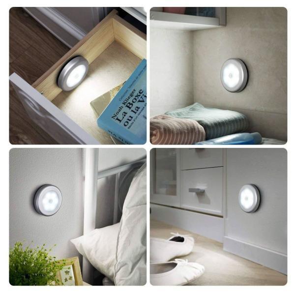 屋内LEDセンサーライト 人感センサー 自動点灯 電池式 電源不要 クローゼット廊下階段など対応 日本語説明パッケージ|ribution|03