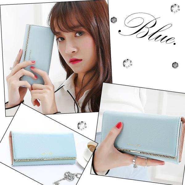 長財布 レディース がま口 かわいい ストーン ガマ口 使いやすい 綺麗 カード収納 カード入れ 送料無料