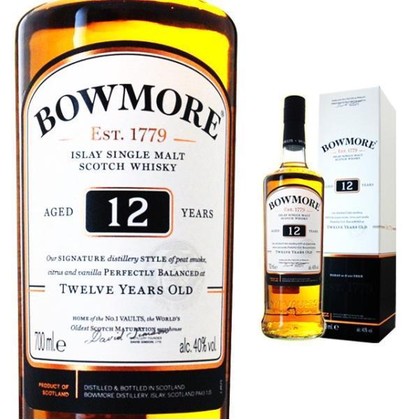 箱入 ボウモア 12年 40度 700ml ウイスキー ウィスキー ギフト アイラ スコッチウイスキー シングルモルト スコッチ シングルモルトウイスキー