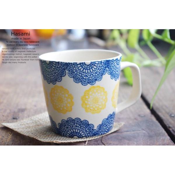 和食器 波佐見焼 レース マグカップ カフェ コーヒー 紅茶 カフェオレ  青 ブルー  陶器 食器 うつわ おうち|ricebowl|06