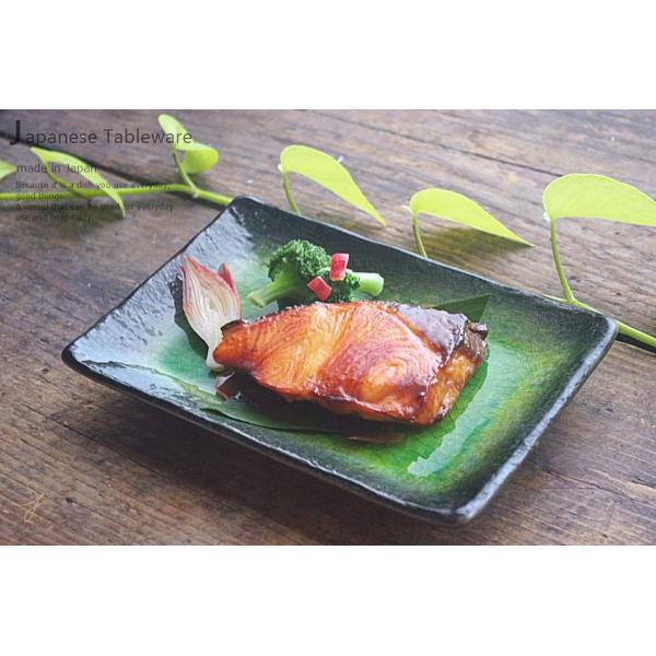 メロンシャーベットのようなイエローグリーン緑釉 貫入 前菜ディッシュ 和食器 長角皿 焼物皿 串皿|ricebowl|14