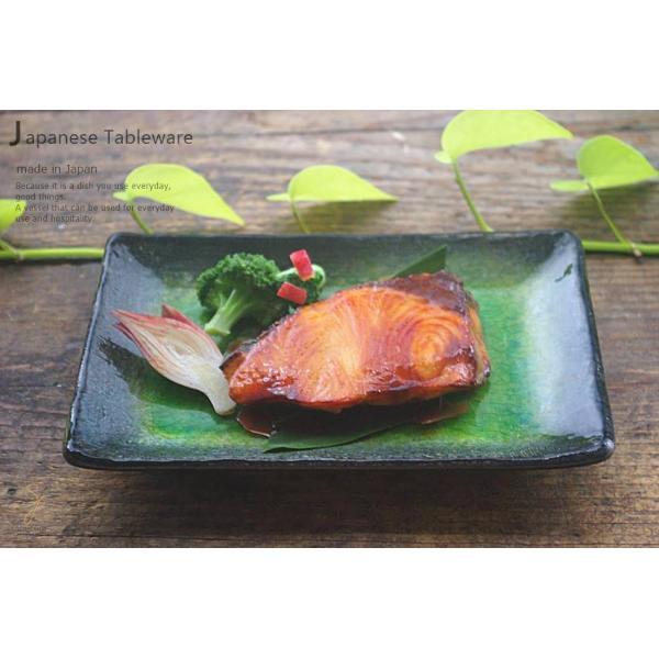 メロンシャーベットのようなイエローグリーン緑釉 貫入 前菜ディッシュ 和食器 長角皿 焼物皿 串皿|ricebowl|04