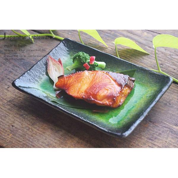メロンシャーベットのようなイエローグリーン緑釉 貫入 前菜ディッシュ 和食器 長角皿 焼物皿 串皿|ricebowl|07