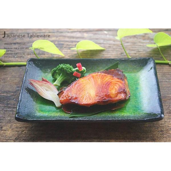 メロンシャーベットのようなイエローグリーン緑釉 貫入 前菜ディッシュ 和食器 長角皿 焼物皿 串皿|ricebowl|08