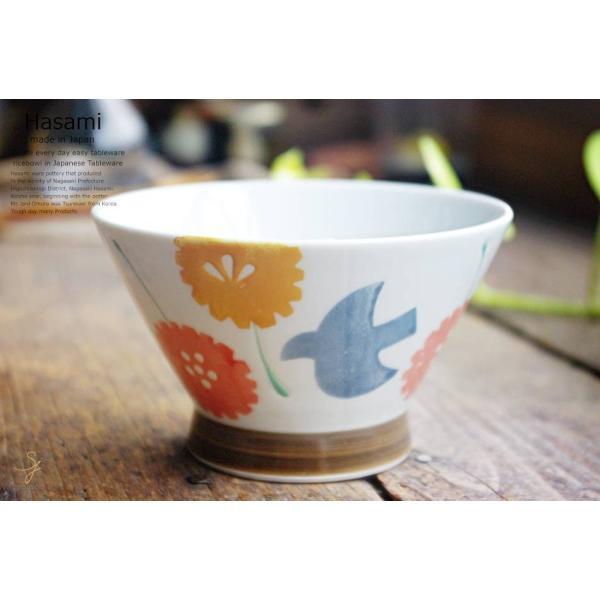 和食器 波佐見焼  バード くらわんか碗 ご飯茶碗 飯碗  赤 陶器 食器 うつわ おうち|ricebowl|02