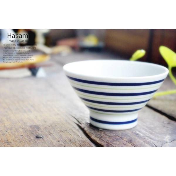和食器 波佐見焼 くらわんか碗 ご飯茶碗 飯碗 カラーライン グリーン 緑 陶器 食器 うつわ おうち ricebowl 02