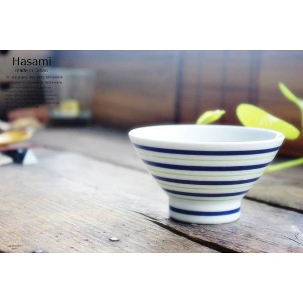 和食器 波佐見焼 くらわんか碗 ご飯茶碗 飯碗 カラーライン グリーン 緑 陶器 食器 うつわ おうち ricebowl 03