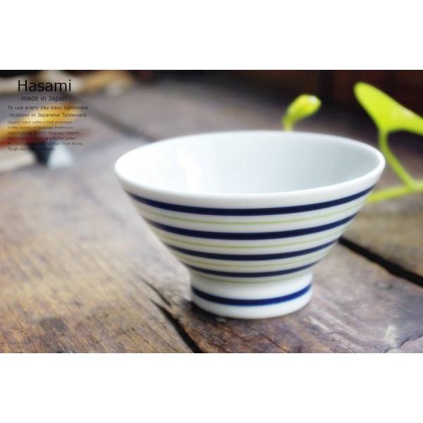 和食器 波佐見焼 くらわんか碗 ご飯茶碗 飯碗 カラーライン グリーン 緑 陶器 食器 うつわ おうち ricebowl 04