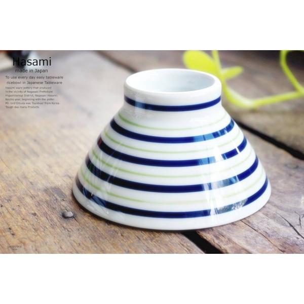 和食器 波佐見焼 くらわんか碗 ご飯茶碗 飯碗 カラーライン グリーン 緑 陶器 食器 うつわ おうち ricebowl 06