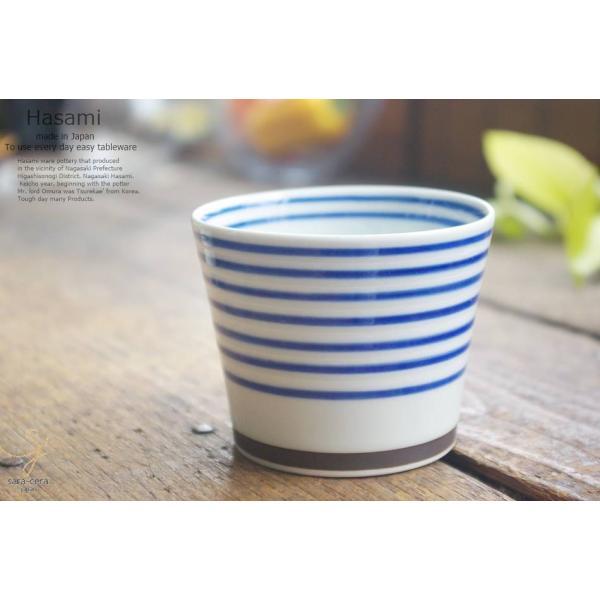 和食器 波佐見焼 カラーサイドライン おもてなし そば猪口 カップ 青 陶器 食器 うつわ おうち ごはん|ricebowl|02